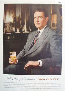Lord Calvert Custom Blended Whiskey 1947 AD