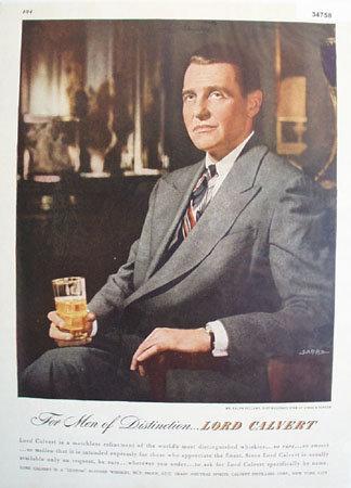 Lord Calvert Custom Blended Whiskey 1947 AD