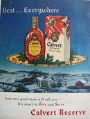 Calvert Reserve Blended Whiskey 1951 Ad