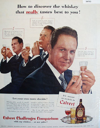 Calvert Challenges Comparison 1951 Ad