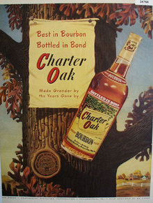 Charter Oak Straight Bourbon Whiskey 1951 Ad