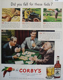 Corbys Blended Whiskey Fads 1950 Ad