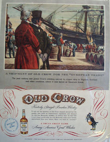 Old Crow Whiskey Clipper Ship 1951 Ad