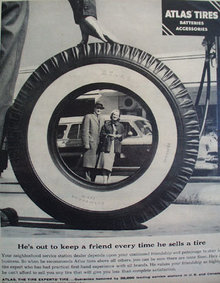 Atlas Tires Batteries And Accessories 1956 Ad