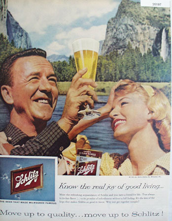Schlitz Beer by Jos. Schlitz Brewing Co. 1959 Ad