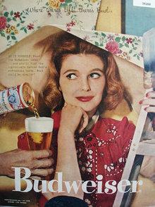 Anheuser Busch Budweiser 1958 Ad