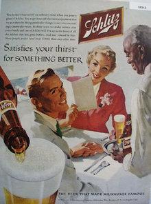 Jos. Schlitz Brewing Co. 1956 Ad