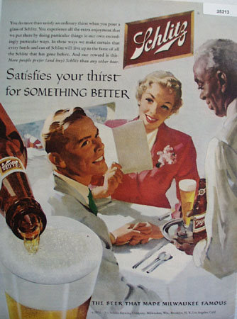 Jos. Schlitz Brewing Co. 1956 Ad