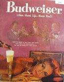 Budweiser Beer Sammy Kaye 1958 Ad