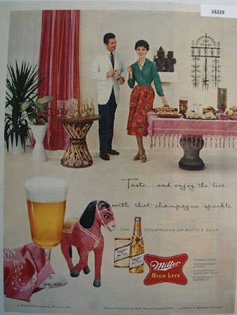 Miller Brewing Co. High Life Beer 1958 Ad
