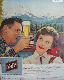Jos. Schlitz Brewing Co. 1957 Ad