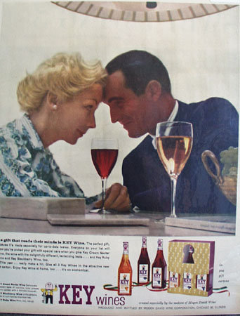 Mogen David Key Wines 1957 Ad