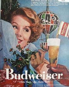 Anheuser Busch Budweiser Beer 1957 Ad