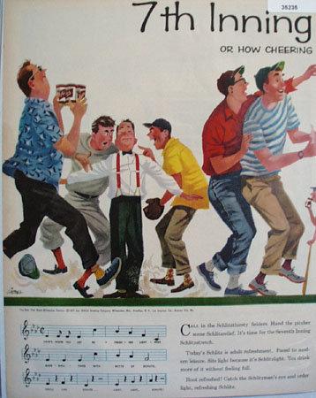 Schlitz Beer Be A Schlitzer 1957 Ad