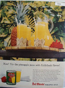 Del Monte Pineapple Juice 1958 Ad