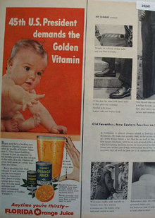 Florida Orange Juice 1955 Ad