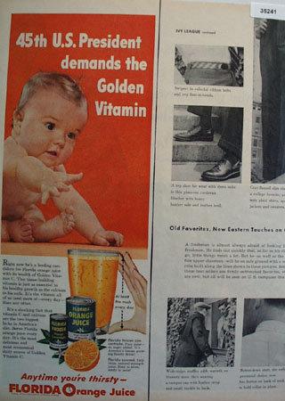 Florida Orange Juice 1955 Ad