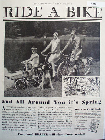 The Cycle Trades Of America 1930 Ad