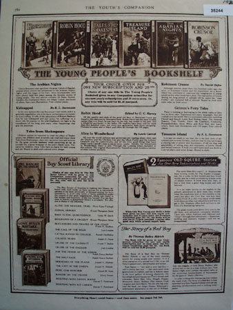 Young Peoples Bookshelf 1926 Ad
