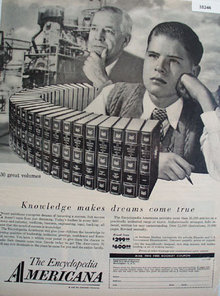 The Encyclopedia Americana 1958 Ad