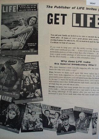 Life Magazine 1959 Ad