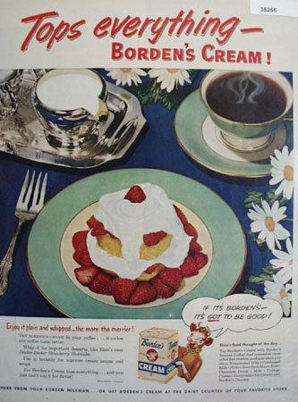 Bordens Cream 1951 Ad