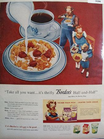 Bordens Half and Half 1956 Ad