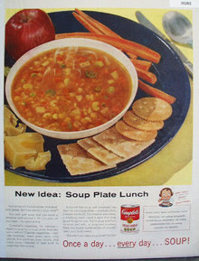 Campbells Soup Plate 1956 Ad