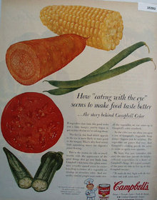 Campbells Vegetable Soup With Color 1956 Ad