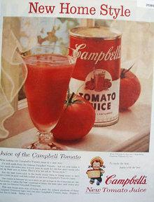 Campbells New Tomato Juice 1955 Ad