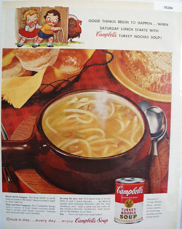 Campbells Turkey Noodle Soup 1959 Ad