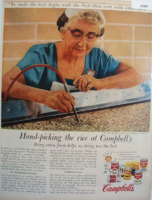 Campbell Products Mrs. Nellie Reagan 1957 Ad
