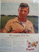 Campbells Soup Field Man 1947 Ad