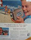 Kodak Brownie Movie Camera 1957 Ad