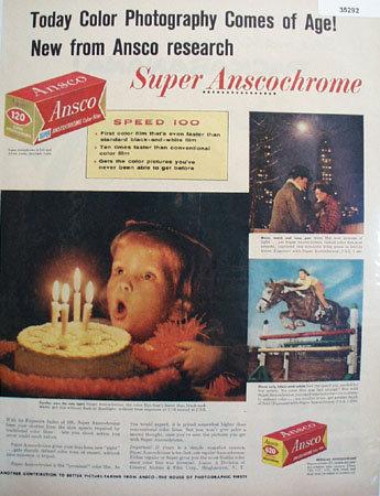 Ansco Super Anscochrome Film 1957 Ad