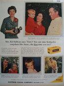 Kodak Kodacolor Film Mrs. Ed Sullivan 1959 Ad