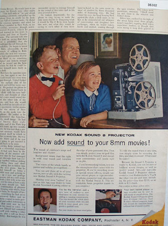 Eastman Kodak Co. Sound Projector 1961 ad