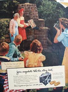 Eastman Kodak Co. Verichrome and Kodacolor Film 1951 Ad