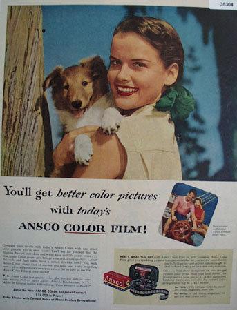 Ansco Color Film 1953 Ad