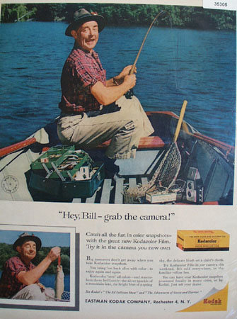 Eastman Kodak Co. Fisherman 1958 Ad