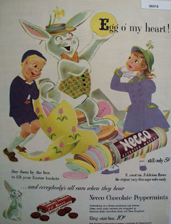 Necco Wafers Candy 1953 Ad