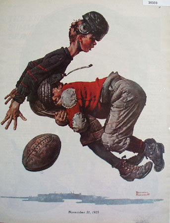Norman Rockwell Football color Picture November 11, 1925