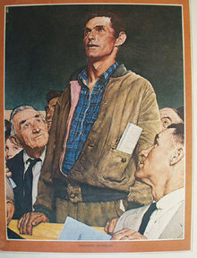 Norman Rockwell Freedom of Speech 1975 Picture