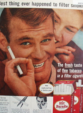 Hit Parade Cigarettes 1957 Add