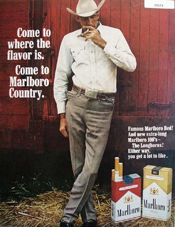 Marlboro Country Cigarette 1968 Ad