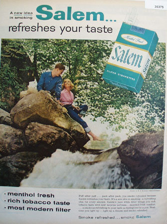 Salem Menthol Fresh Cigarette 1957 Ad