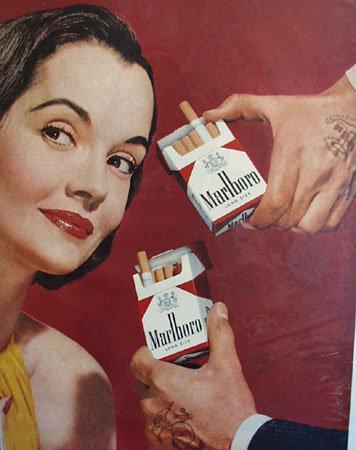 Marlboro Long Size Cigarette 1957 Ad
