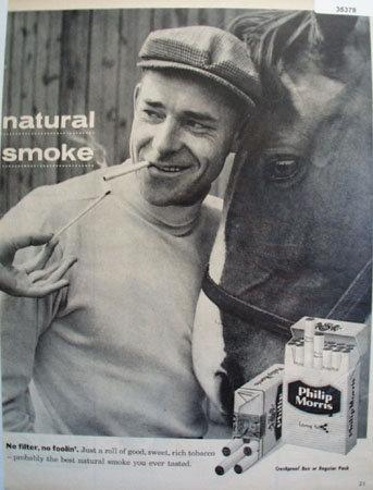 Philip Morris Natural Smoke 1957 ad