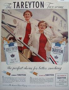 Tareyton Filter Tip Cigarettes 1956 Ad