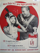 L And M Filter Cigarettes 1956 Ad